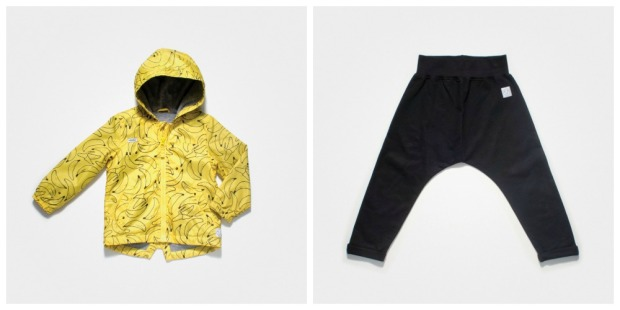 collage pants and rainsuit